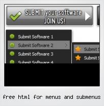 Free Html For Menus And Submenus