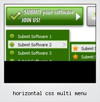 Horizontal Css Multi Menu