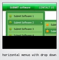 Horizontal Menus With Drop Down