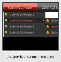 Javascript Menubar Samples
