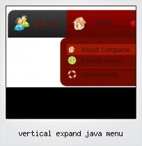 Vertical Expand Java Menu